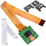 Kuman for Raspberry Pi Camera Module 5MP 1080p OV5647 Sensor with 15 Pin FPC Cable + Pi Zero Ribbon Cable 15cm + 3pcs Adjustable Camera Mount for Raspberry Pi 3 2 model B B+ A+ and Pi ZERO SC09
