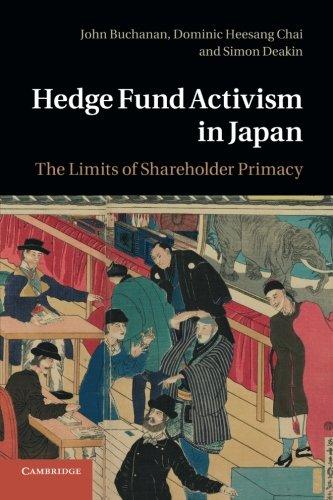 Read Online Hedge Fund Activism in Japan: The Limits Of Shareholder Primacy pdf epub