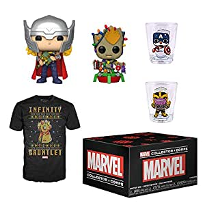 Funko Marvel Collector Corps Subscription Box, Marvel Holiday Theme, November 2019, Medium T-Shirt