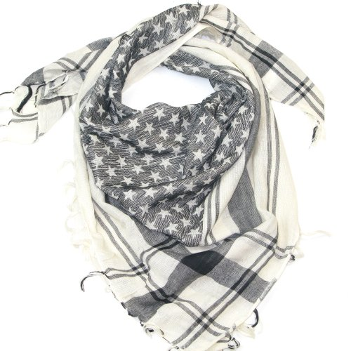 (Black White Star Scarf for Men and Women - Fashion scarves for winter & summer)