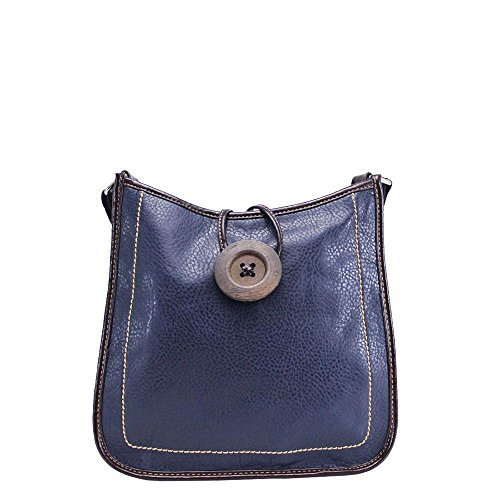 Navy Diva for Ladies Green Detail Crossbody Button Bag Haute S8wqw