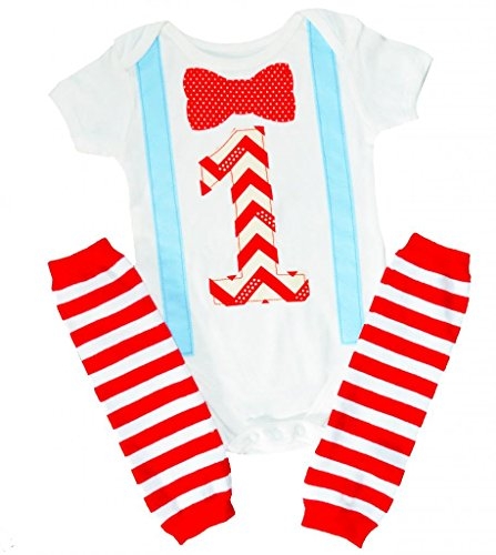 First Baby Boys Birthday Outfit Bowtie Suspenders Set Cake Smash Party 6-12 months