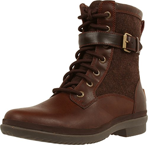 UGG Women's Kesey Motorcycle Boot, Chestnut, 8.5 B - Motorcycle Shoes Sport