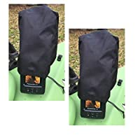 """2-Pack Fishfinder, Depth Finder Poly Sun Cover for 3"""" - 4"""" Models Protects Your Screen From Sun Damage (New Larger Size)"""