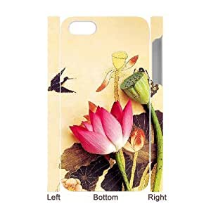 Customized Phone Case with Hard Shell Protection for Iphone 4,4S 3D case with Ink painting lxa#288187