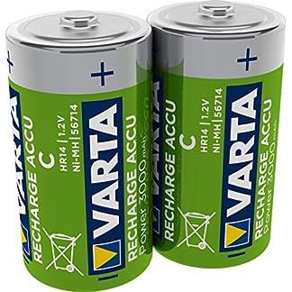 VARTA Rechargeable Accu Ready2Use vorgeladener C Baby Akku (2er Pack, 300mAh), wiederaufladbar ohne Memory-Effekt - sofort einsatzbereit 1