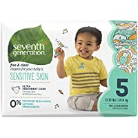 Deals on 2 Seventh Generation Baby Diapers, Free & Clear for Sensitive Skin, 92 Count