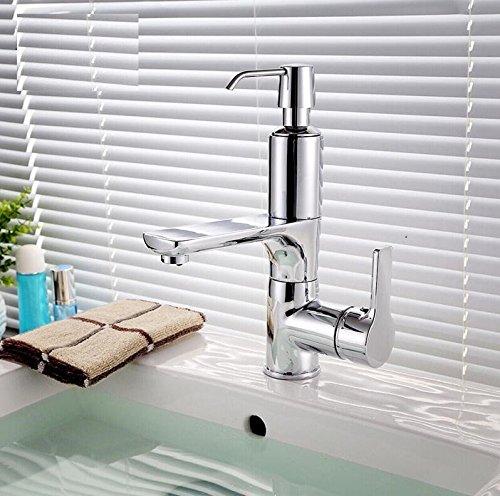 Maßej Bad Wasserhahn Mit Seifenspender  Wasserhahn Waschbecken Kran 2 In 1 Waschbecken Seifenspender Hahn Seifenwassermischer