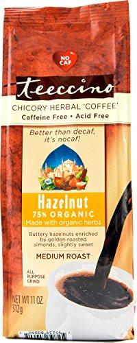 Teeccino Hazelnut Chicory Herbal Coffee Alternative, Caffeine Free, Acid Free, 11 (Teeccino Hazelnut Herbal Coffee)