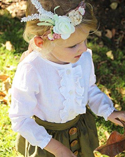(プタス)Putars ベイビー服 子供服 女の子 二点セット スカート シャツ 長袖 フリル 可愛い オシャレ プリンセス 通園 発表会 旅行 誕生日 記念日 プレゼント 1-4歳