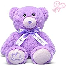 "KateDy Stuffed Teddy Bear 12"" Sitting Height Plush Lavender Bear For Kids Adults Lovers ,Soft Cotton Amazon Stuff Teddy Bear Valentines Prime Gift Card Toys Best for Girlfriend Boyfriend"