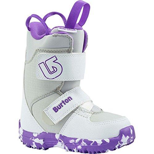 (Burton - Youth Mini Grom Snowboard Boots 2018, White/Purple,)