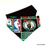 Boston Celtics Over the Collar, Reversible Dog Bandana, Bell Art Designs, DCXS0038