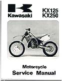 99924-1153-02 1992-1993 Kawasaki KX125 KX250 Motorcycle Service Manual