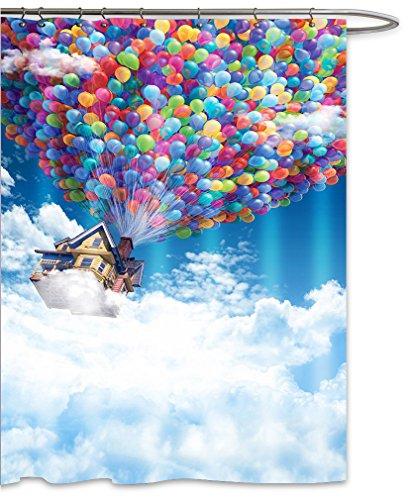 Colorful Balloon House from UP Shower Curtain Sets