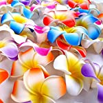 Ewandastore-100-Pcs-Diameter-32-Inch-Artificial-Plumeria-Rubra-Hawaiian-Foam-Frangipani-Flower-Petals-for-Weddings-Party-DecorationHot-Pink