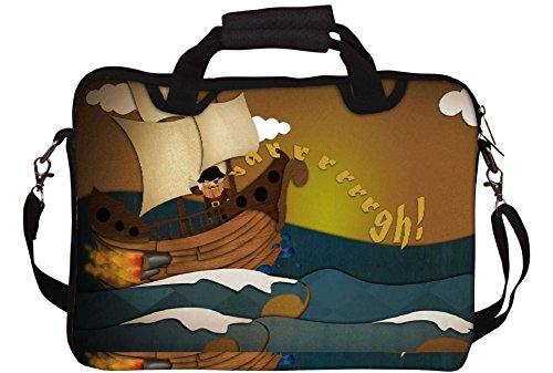 Snoogg Piratenschiff 2683 Gedruckt Notebook-Tasche mit Schultergurt 15 bis 15,6 Zoll