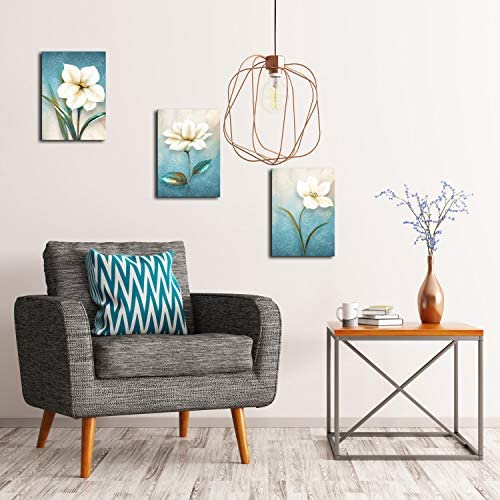 Bathroom Decor Wall Art Pictures For Bathrooms Floral Canvas Wall Art Bathroom Wall Decor Canvas Printed Matter With Wooden Frame Ready to Hang 12x16Inchesx3Pcs
