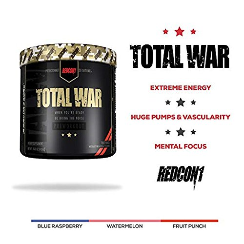 Total War - Pre Workout - 30 Servings - Newly Formulated (Strawberry Lemonade Slushy)   Limited Edition Any Body Supplements Exclusive by Redcon1 (Image #2)