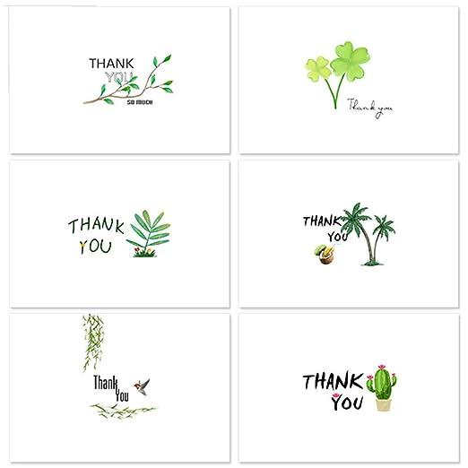 TOYANDONA Tarjetas de Agradecimiento de 48 Piezas Notas de ...