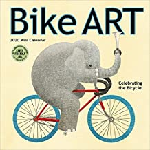 bike art 2020 mini wall calendar in celebration of the bicycle 7 x 7 7 x 14 open