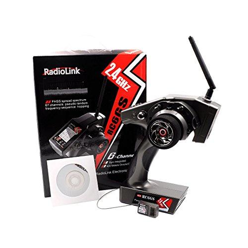 RadioLink RC6GS 2.4G 6CH Rc émetteur de contrôleur de voiture avec R6FG Gyro récepteur à l'intérieur pour RC voiture bateau (400m de distance)