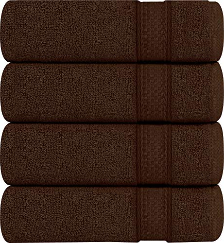 Utopia Towels Premium Bath Towels, 4 Pack, 700 GSM Towels, Dark Brown (Best Bath Towels 2019)