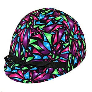 Equestrian Riding Helmet Cover - Shattered Glass