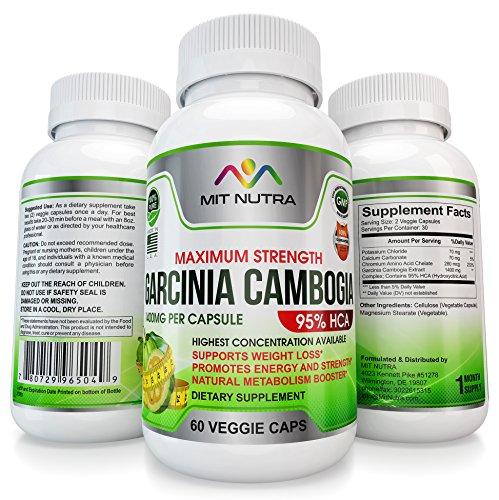 Garcinia Cambogia – Natural Metabolism Booster helps Lose Weight Fast, Fat Burner Supplement for Women & Men | 95% HCA | Veggie Dietary Supplement | Diet Pills That Work Fast| 60 Weight Loss Pills.