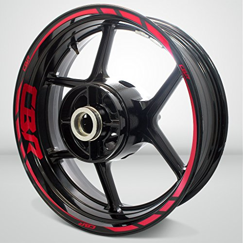 Reflective Red Motorcycle Rim Wheel Decal Accessory Sticker for Honda CBR