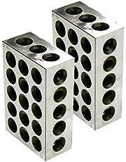 "Wenyu 1-2-3 Blocks Set 0.0001"" Ultra Precision Matched Mill Machinist 3-2-1 Block 23 Holes"