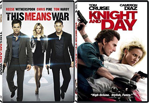 Knight and Day + This Means War DVD Fun Action Comedy movie Set Combo Edition