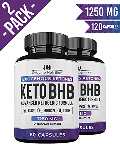 Keto Pills - (2 Pack | 120 Capsules) Advanced Keto Burn Diet Pills - Best Exogenous Ketones BHB Supplement (The Best Weight Loss Pills 2019)