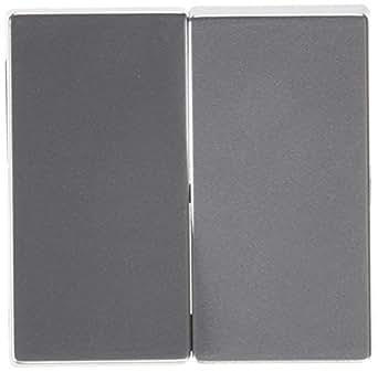 Schneider Electric MTN433560 Tecla Doble, Aluminio