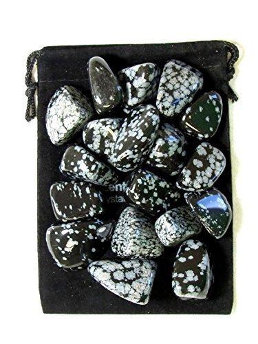 Snowflake Stone - Zentron Crystal Collection: 1/2 Pound Tumbled Snowflake Obsidian