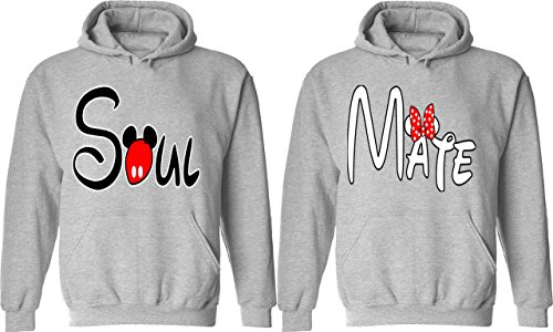 Soul Mate - Matching Couple Hoodies - His and Her Love Sweaters (Cute Couple Outfits)
