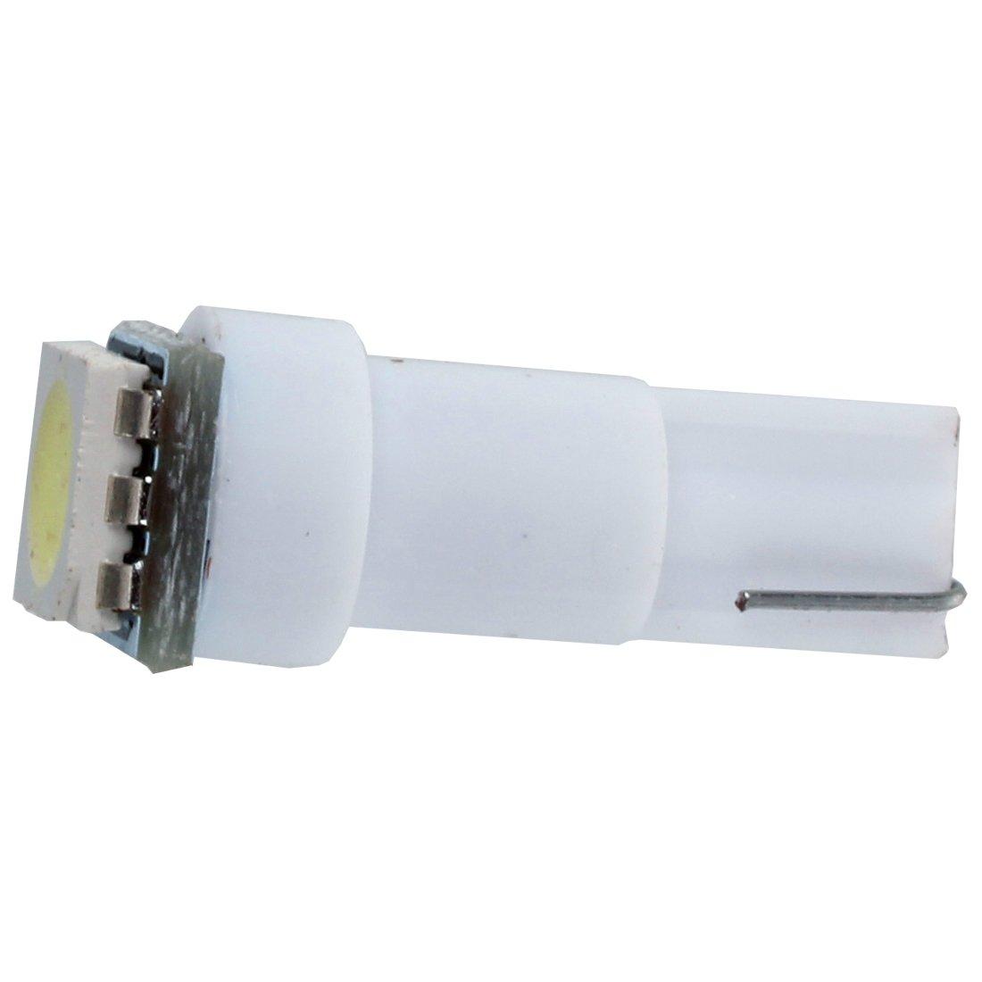 BMYUK 10X coche T5 5050 bombillas de LED SMD 1 Dashboard Blanco lampara de luz 74 37 286 18 27 12v