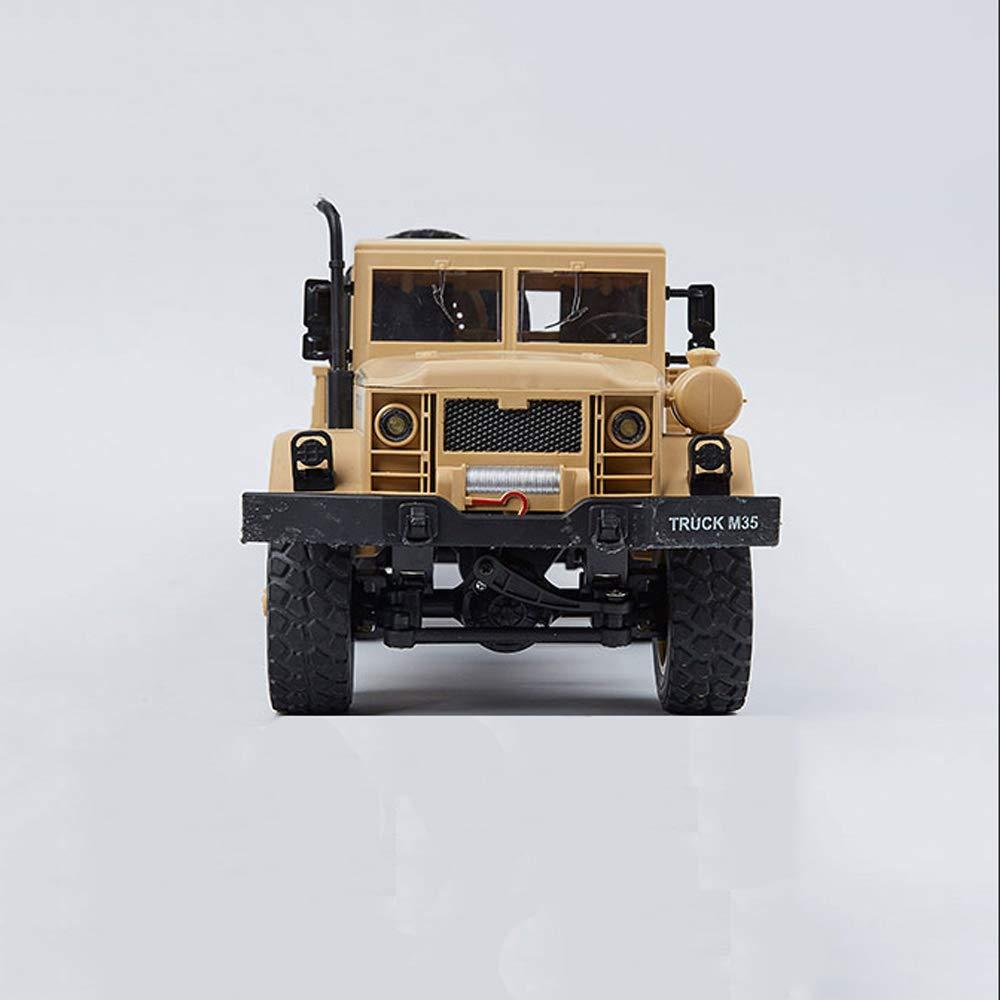 Gelb 1 battery Mogicry Aufladen-Six-Wheel Drive-Fernsteuerungsauto 2.4Ghz Militärauto-SUV 1.12 hohes Horsepower elektrisches kletterndes Auto RC-Modell-LKW-Kind-Jungen-Spielzeug-Geschenk für Kinder 3+