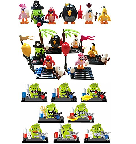 Best Selling 2016 Product 14Pcs/set Crazy Birds and Pigs Minifigure Building Block Toys (Party City 2016 Costumes)