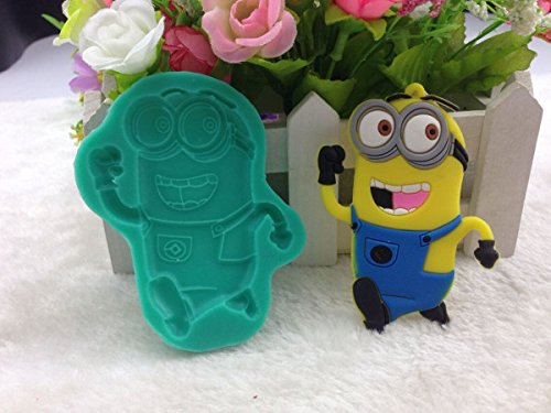 Cookie Cutter|Cake Molds|Despicable Me Minions DIY Silicone Fondant Cake Molds Chocolate Mold Soap Mould Kitchen Baking Tool Silicone Mold FM720|By -