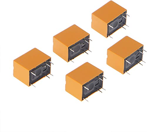 BIlinli 5 St/ück 3V-Relais HK4100F-DC3V-SHG 6 Pins 3A 250V AC 30V DC