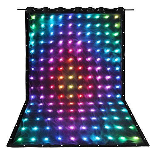 GBGS 30 Pattern RGB LED Video Curtain Screen for Stage,Wedding, DJ Backdrop 8CH with SD Controller and Fire Retardant curtain...