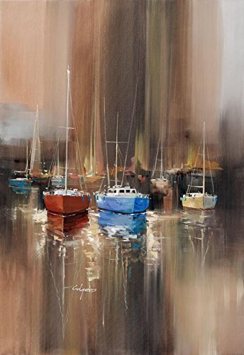 Oil Painting 'The Boats', 24 x 35 inch / 61 x 88 cm , on High Definition HD canvas prints is for Gifts And Dining Room, Foyer And Kids Room Decoration, create wall art