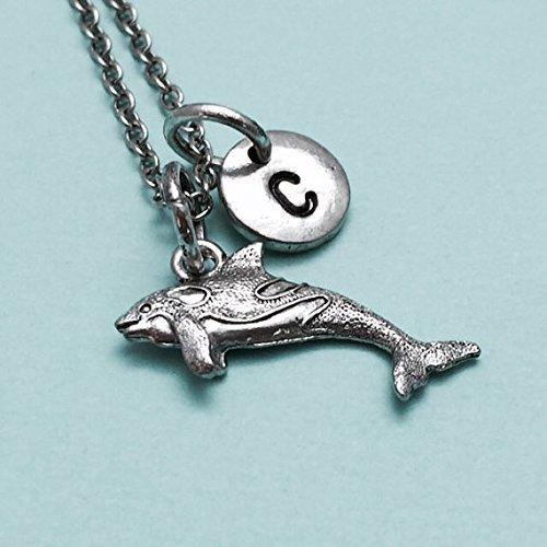 Amazon killer whale necklace whale charm orca whale necklace killer whale necklace whale charm orca whale necklace personalized necklace initial necklace aloadofball Choice Image