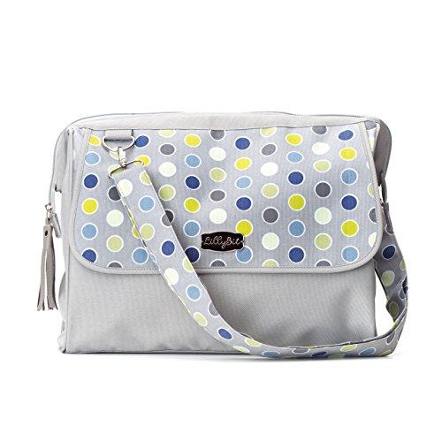 DEMDACO Lillybit Diaper Bag, Polka Dot