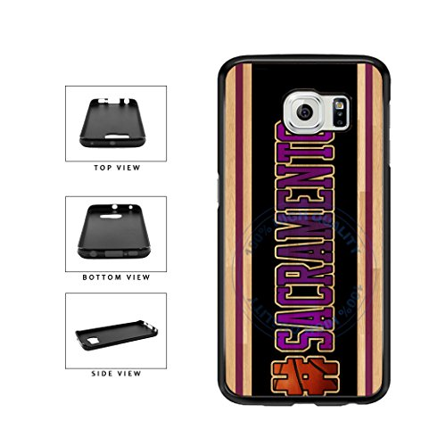 (BleuReign(TM) Basketball Team Hashtag Sacramento #Sacramento TPU RUBBER SILICONE Phone Case Back Cover For Samsung Galaxy S7 Edge)