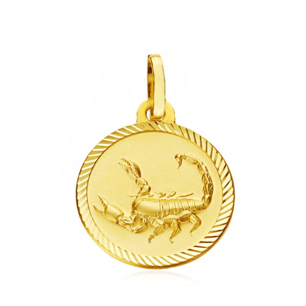 Médaille Pendentif Scorpion spirale 18 ct 16mm - personnalissable Alda Joyeros 399