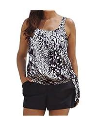 Eternatastic Women Spot Polka Dot Tankini Swimwear Two Pieces Swimsuit Set