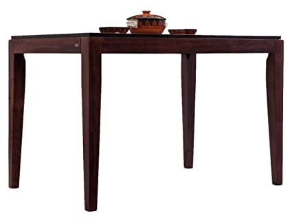 huge selection of 12f7e 16f4f Durian Caribbean 4 Seater Dining Table (Brown): Amazon.in ...