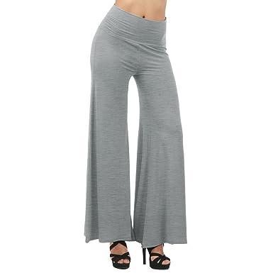 Damen Schlaghose,juqilu Vintage Bootcut Hose Damen Yogahosen Freizeithose  Große Größen Haremshose Solide Farben Lange a2797e14af